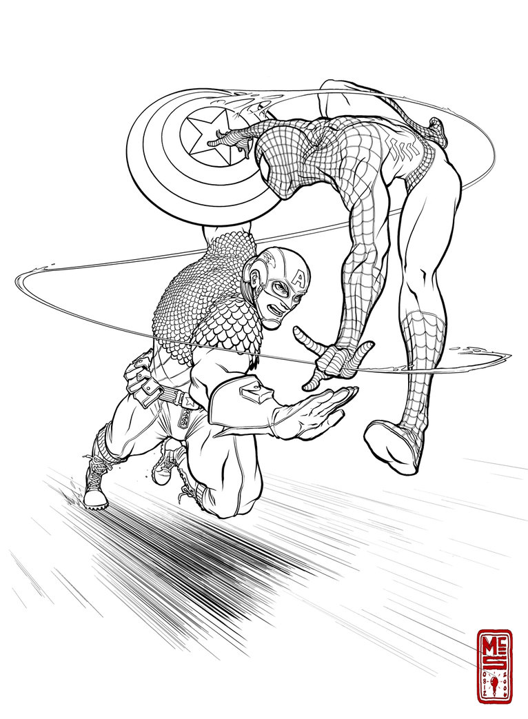 spiderman vs. the rhino coloring pages