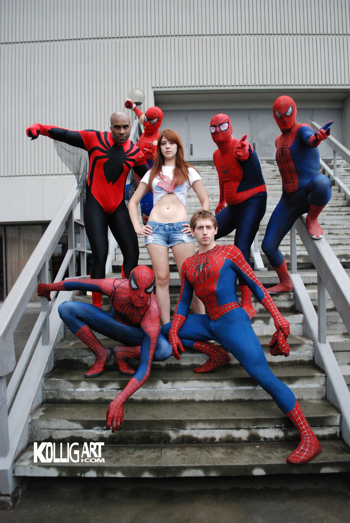Dragon*Con 2011 - Spider-Men & Mary Jane