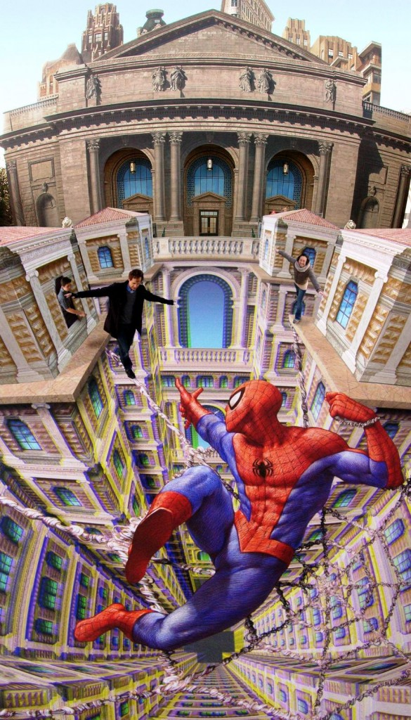 kurt-wenner-spider-man-3d-art