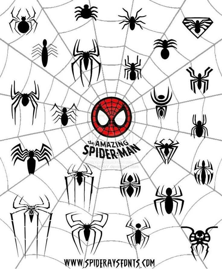 Spider man noir symbol