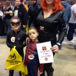 Black Widow and her cute kids