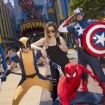 "On May 17, 2014, Universal Orlando Resort hosted television personality, Khloe Kardashian, at its Islands of Adventure theme park where she teamed up with Spider-Man, Wolverine and Captain America to join forces against the Marvel super villains. Khloe Kardashian is best known for starring in the reality television series ""Keeping Up with the Kardashians."""