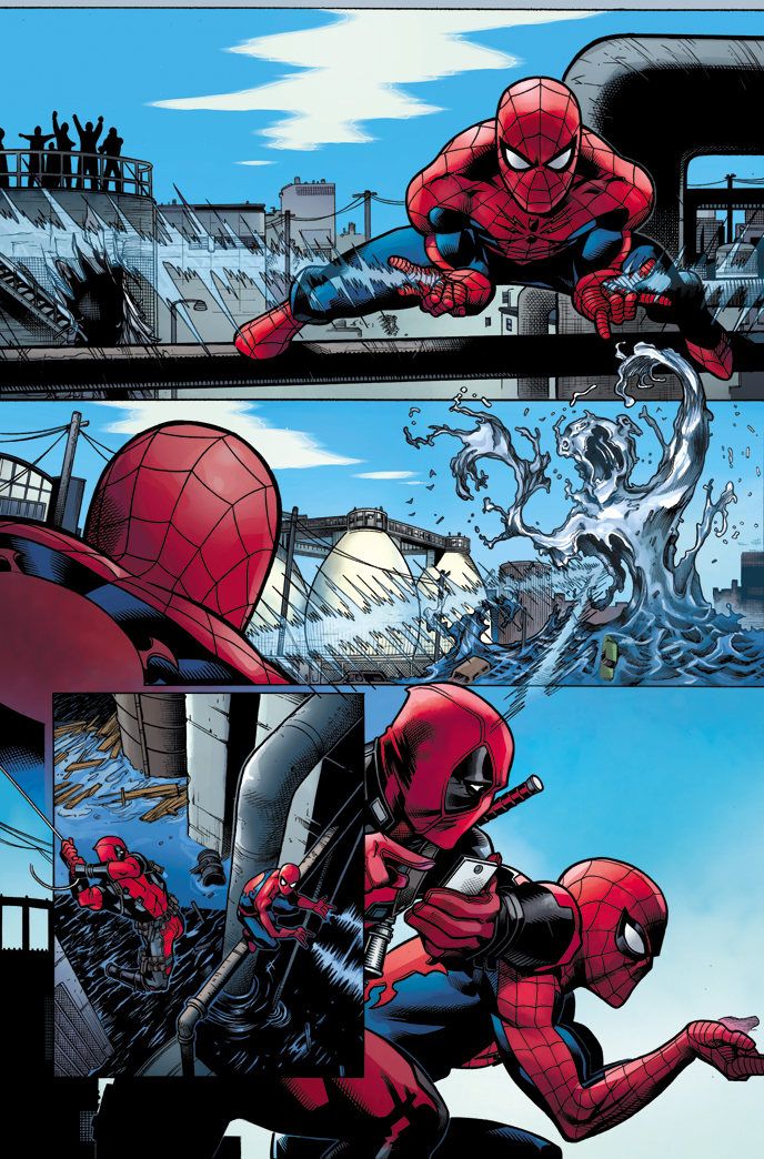 Mouthy Merc Meets Webbed Wonder U2013 Your New Look At SPIDER MAN/DEADPOOL #1!
