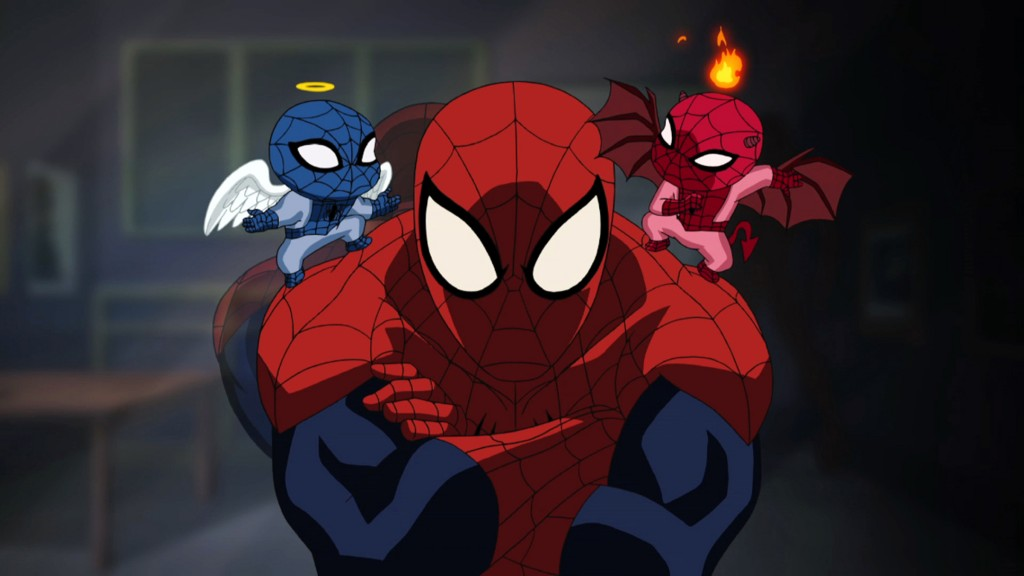"THE ULTIMATE SPIDER-MAN - ""Great Responsibility"" - Marvel universe hurtles its way onto Disney XD Sunday, April 1, with the compelling new series, ""ULTIMATE SPIDER-MAN,"" and the return of ""THE AVENGERS: EARTH'S MIGHTIEST HEROS."" (DISNEY XD) SPIDER-MAN"