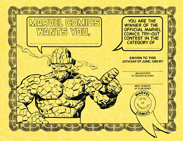Marvel Comics Try-Out Contest award-certificate-090811