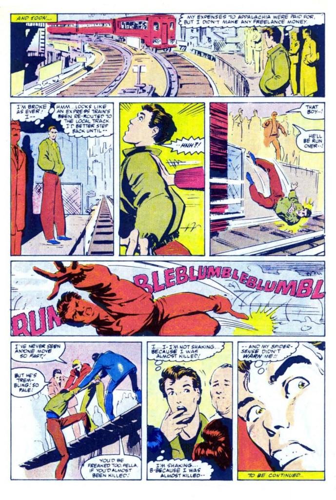 Web Of Spiderman 18 Venom cameo