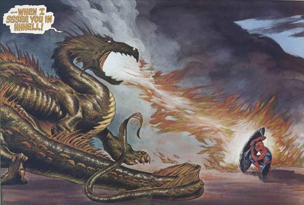 Wrightson Spidey dragon
