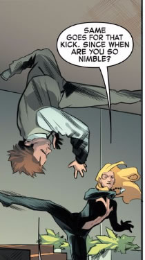 You'll have to trust me when I tell you that the guy jumping upside down is Peter Parker.
