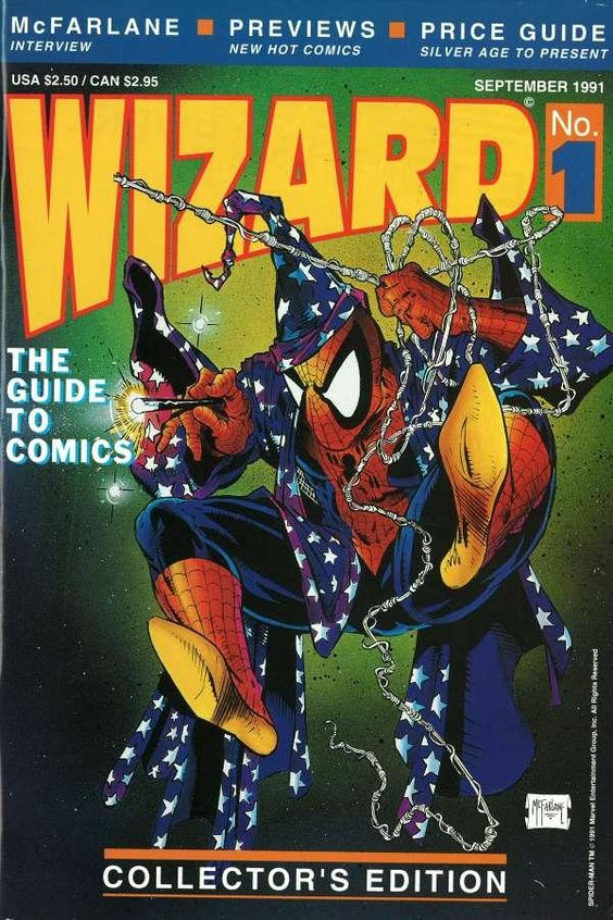 Todd McFarlane's Spider-Man cover for Wizard #1