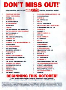 Marvel NOW! October