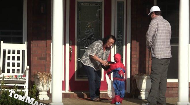 Spider-Man Halloween Prank