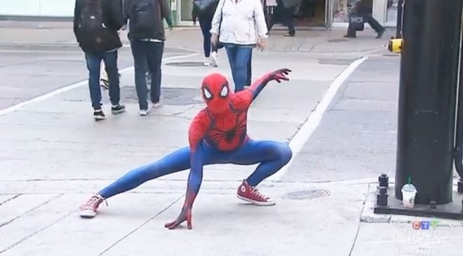 Canadian Spider-Man Stops Shoplifter