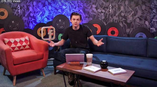 Tom Holland Answers Questions on Facebook LIve