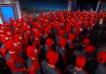 Army of Spider-Men Invade Jimmy Kimmel Show