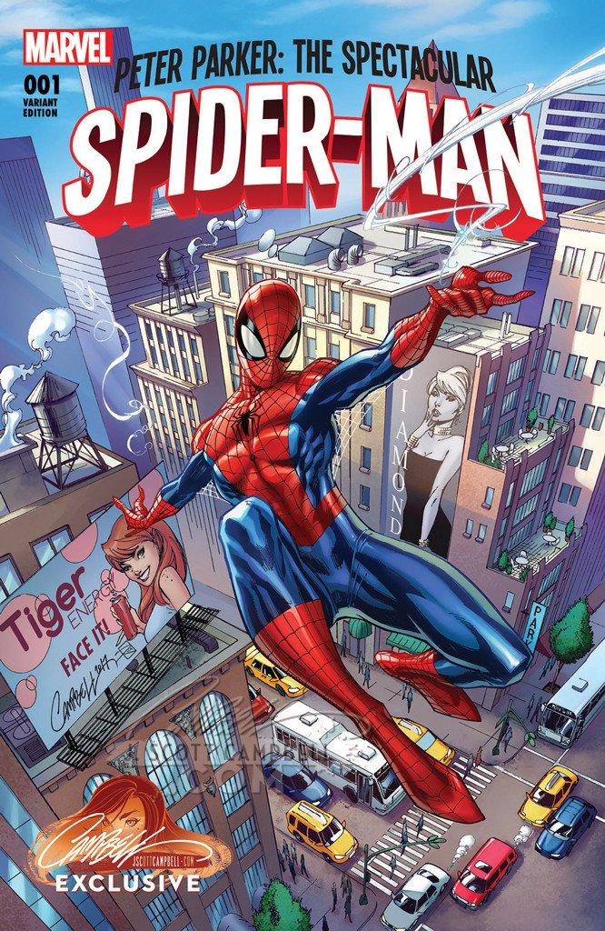 PETER PARKER THE SPECTACULAR SPIDER-MAN #4 VENOMIZED VARIANT COVER  MARVEL 2017