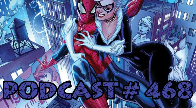 Podcast #468-Message Board Q & A-Black Cat Vs Catwoman, Future Movie Villains,Spidey in 2018