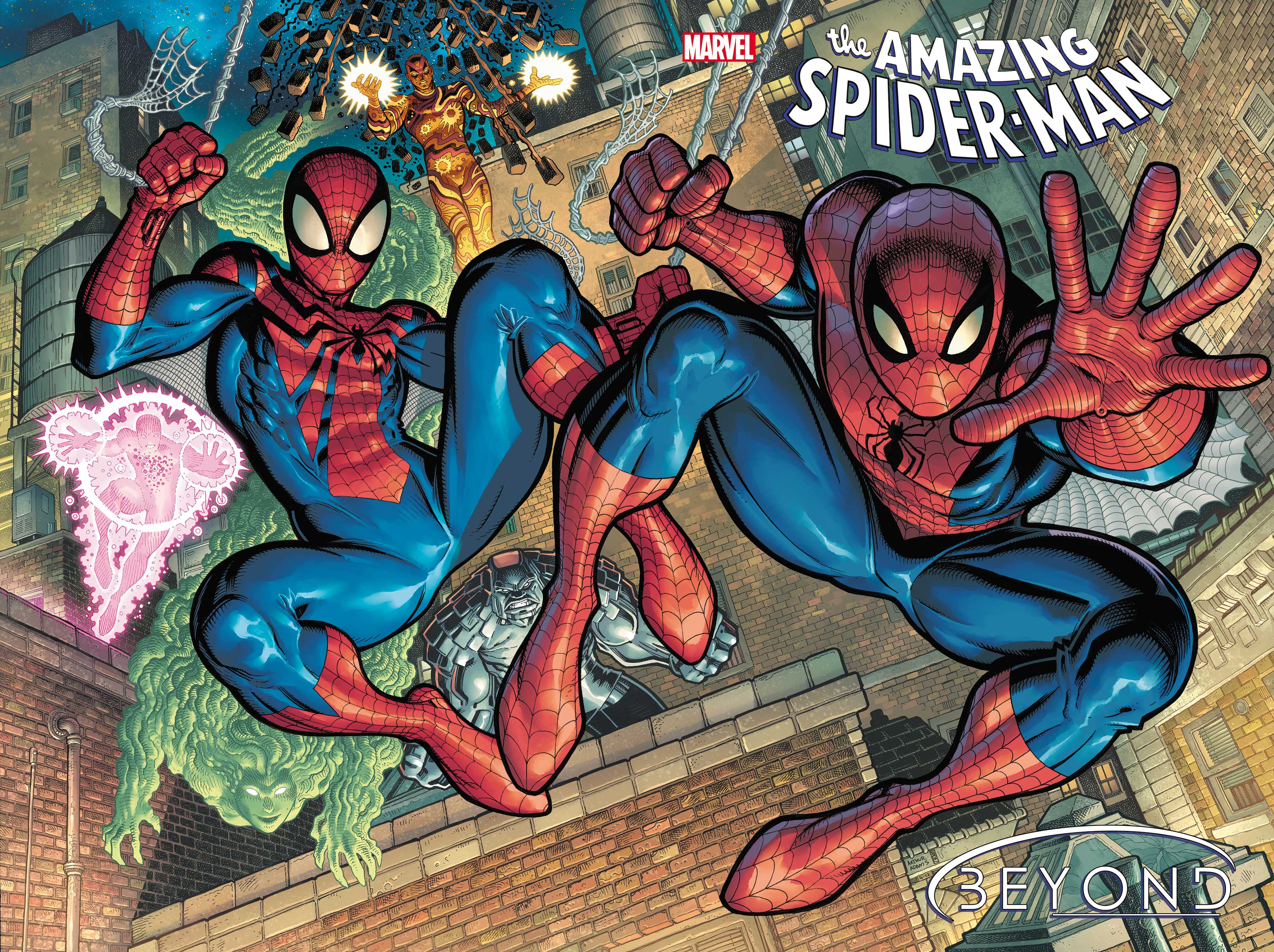 PETER PARKER AND BEN REILLY SWING INTO ACTION ON ARTHUR ADAMS' AMAZING  SPIDER-MAN #75 COVER! (ONLY ONE WILL SWING OUT!) - Spider Man Crawlspace